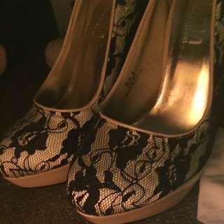 Black Laced Heels