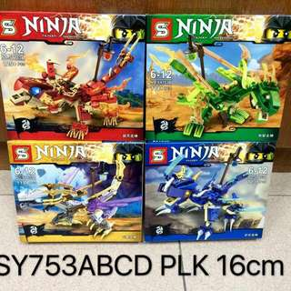 Ninja Ninjago SY753 ABCD Lego Inspired