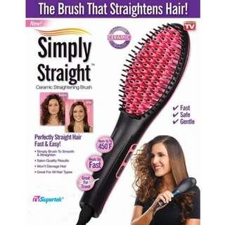 Simply Straight 2-in-1 Hair Straightener & Brush - New in Box