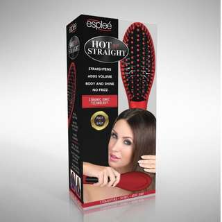 Hot and Straight Straightening Salon Brush with Temperature Control by Esplee-- New in Box