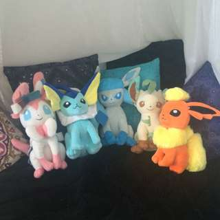 Eeveelution Plushies