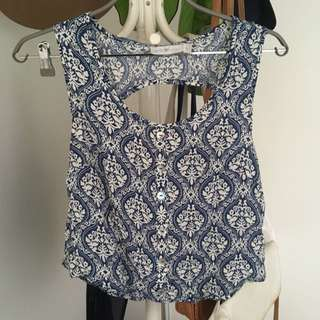 QUIRKY CIRCUS patterned top