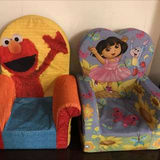 Elmo Chair And Dora Chair