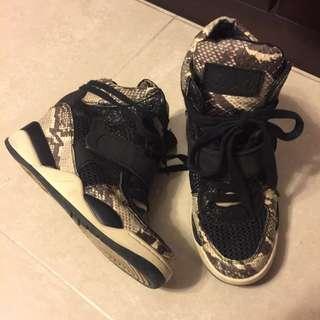 ASH Lane Crawford 內增高 高筒 高踭 蛇紋波鞋 Sneaker