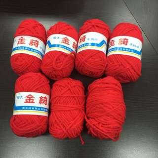 紅色毛線球 全新