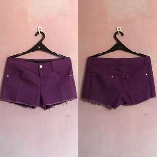 [PRELOVED] Forever 21 Purple Denim Short REPRICE!!