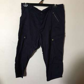 3/4 Navy Blue Pants (mirrou)
