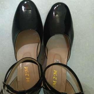 Reprice! Black Platform High Heels Size 39
