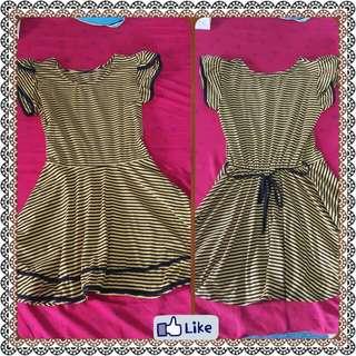 Stripe Yellow Dress