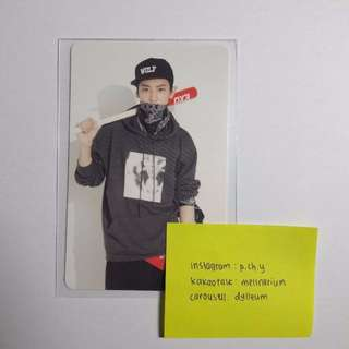 EXO Boy Who Cried Wolf BWCW Stationery Photocard (Chanyeol)
