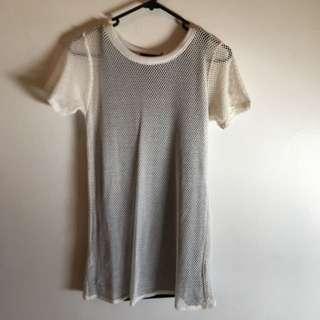 Mesh T Shirt Dress