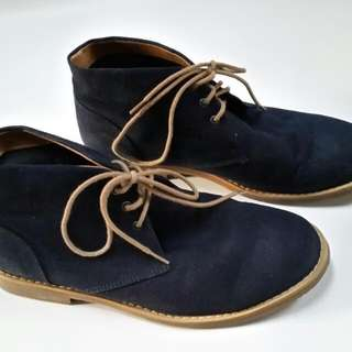 Men's H&M navy blue suede - like shoe size 40