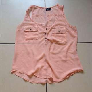 Sheer Peach Shirt