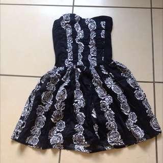 Black and White Flower Dress