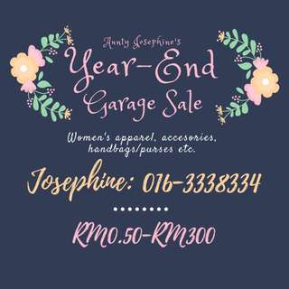 Aunty Josephine's Year-End Garage Sale