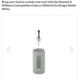 NEW Maxwell & Williams 400mL Oil/Vinegar Bottles