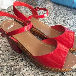Mollini red wedges