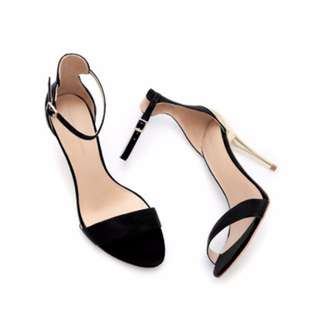Zara Combined Sandal With Stiletto Heel