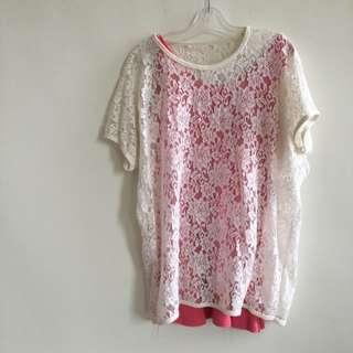 日系玫瑰花罩衫(不含內搭)