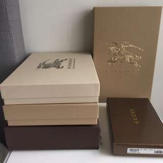 Louis Vuitton And Burberry Boxes. ON HOLD
