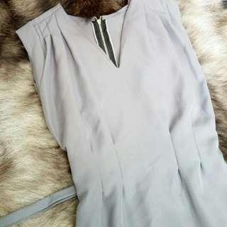 Detail Grey Gladiator Top/Dress