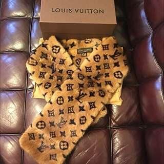 Lv Louis Vuitton Real Mink Scarf Extreme Rare