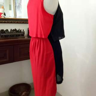 Back Detail Of Black X Red Loubie Dress
