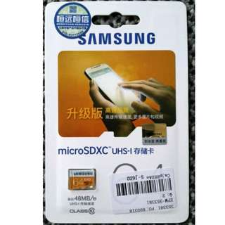 NEW GENUINE Samsung EVO microSDXC UHS-I 64GB Class 10 Memory Card