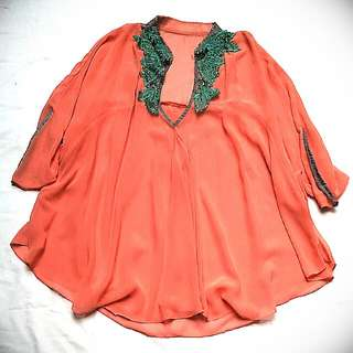 Loose Batwing Top
