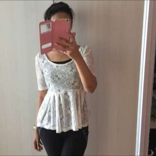 Peplum Lace Blouse