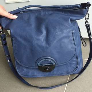 Authentic Mimco Amazonian Bucket (tote) Navy Blue Leather
