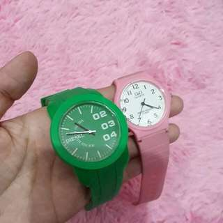 Green And Pink Watches