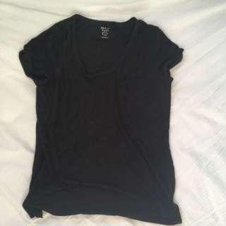 Plain Black T-Shirt x2