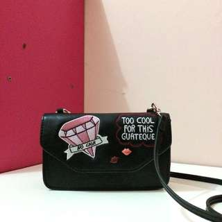 Zara Patch Sling Bag + Wallet