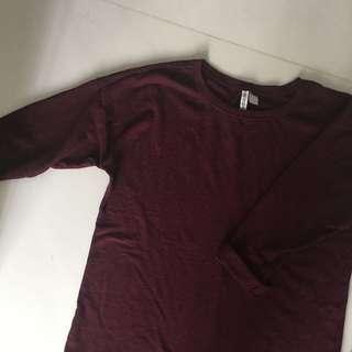 Maroon Uniqlo Thin Sweater