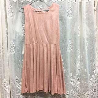 AIR SPACE粉色洋裝