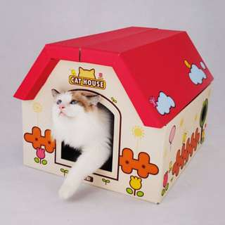 DIY Cardboard House For Cats / Small Pets