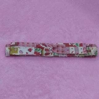Bandana Anak - Pink Red Bow