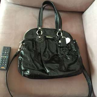 Authentic Coach Poppy patent leather bag