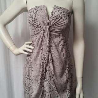 Zimmerman snake print twist dress