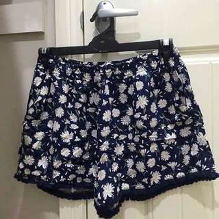 Cotton On Ink Blue Dandelion Shorts Size Large