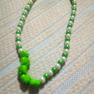 Green Cute Hello Kitty Necklace
