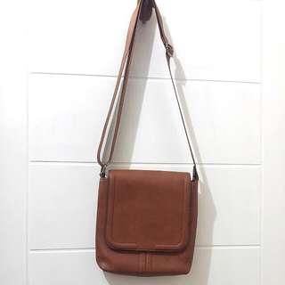 Sling Bag Zara Man Original Warna Coklat Original
