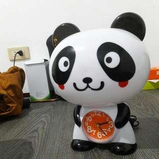 熊貓檯燈時鐘
