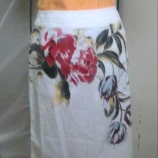 中腰彩繪抽絲裙