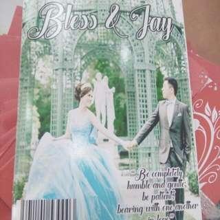 Mini Magazine Unique Wedding Invitation