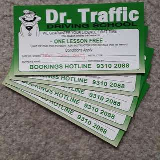 Dr Traffic Free Instructor Sessions