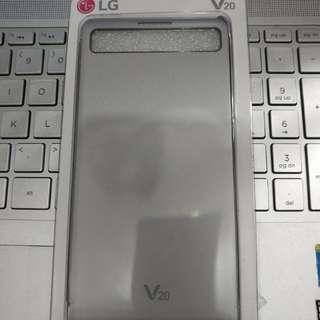 99成新LG V20原裝殼Quick Cover (銀色)