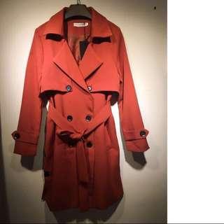 韓版雙排扣大衣外套