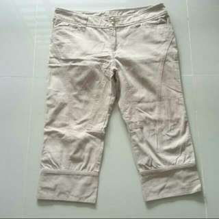 Beige 3/4 Pants